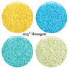 10 PK - Matte, Opaque Hexagon Glitter Kit
