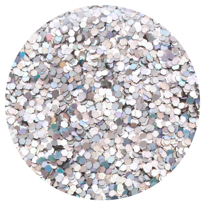 6 PK - Holographic Silver & Gold Jewel Glitter Kit