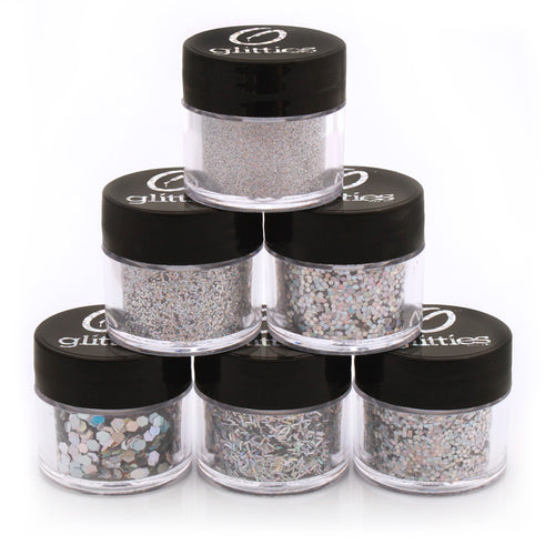 Silver Jewel Glitter Kit (6PK)