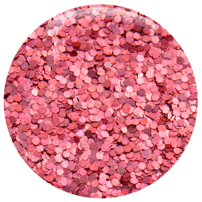 "Pink Salmon Jewel Hexagon .040"" – Bulk"