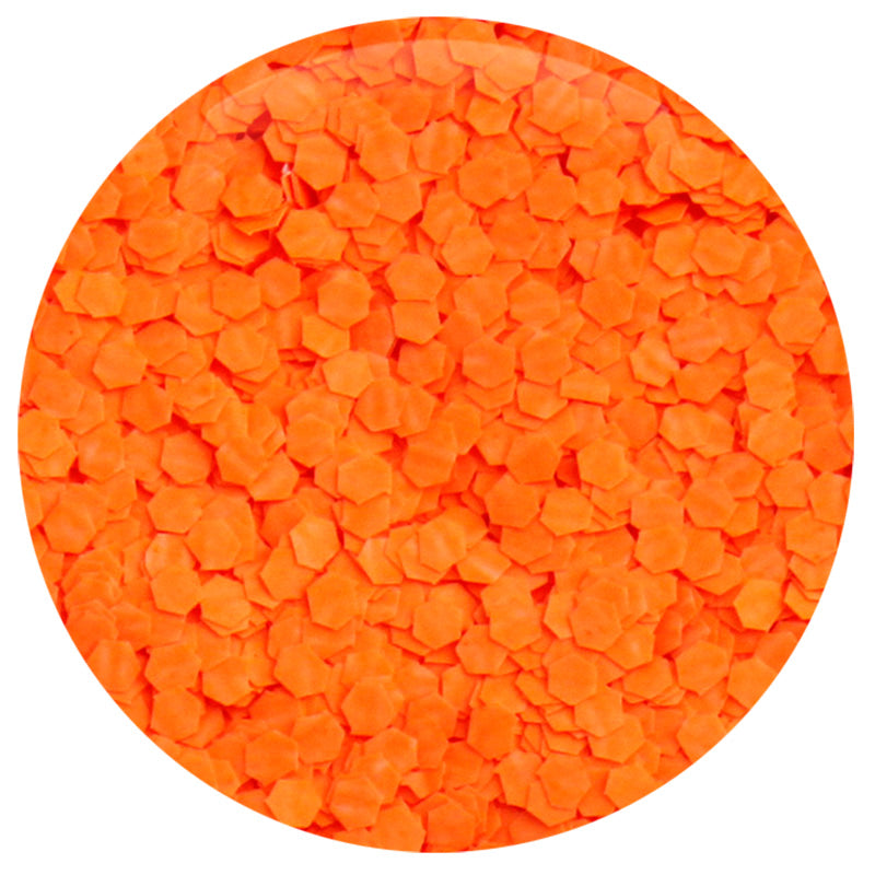Neon Orange Hexagon .062""
