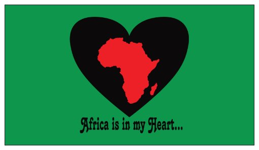 Africa is in my Heart V3 (Gr/Bk/Rd) Small Refrigerator Magnet