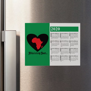 Africa is in my Heart V3 (Gr/Bk/Rd)  Calendar Refrigerator Magnet