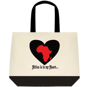 Africa is in my Heart V4 (Wh/Bk/Rd) Tote Bag
