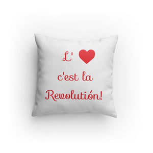 Love is the Revolution Fr V2 (Wh/Rd) Pillow
