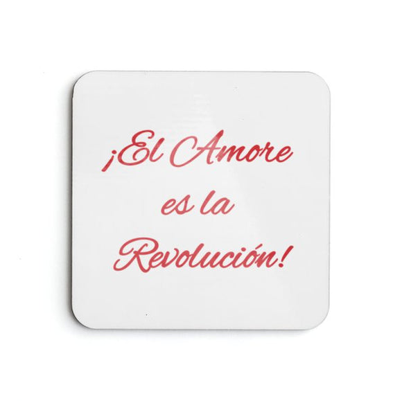 Love is the Revolution Sp V1 (Wh/Rd) Coasters