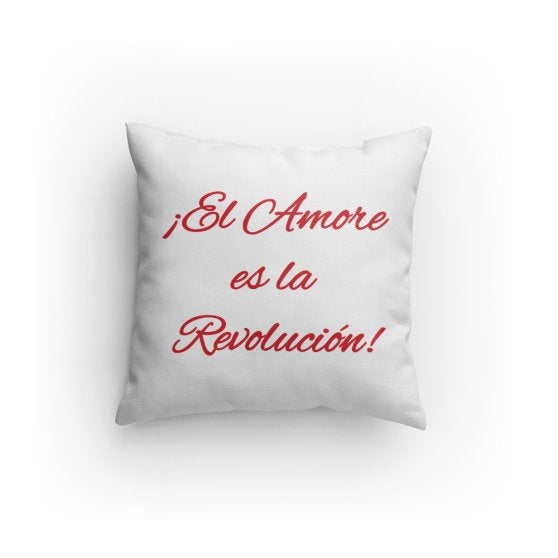 Love is the Revolution Sp V1 (Wh/Rd) Pillow
