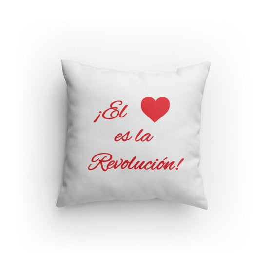 Love is the Revolution Sp V2 (Wh/Rd) Pillow