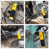 UTOOL Grease Gun, 7000 PSI Heavy Duty Pistol Grip Grease Gun Set with 14 oz Load, 18 Inch Spring Flex Hose, 2 Working Coupler, 2 Extension Rigid Pipe and 1 Sharp Type Nozzle Included(Yellow)