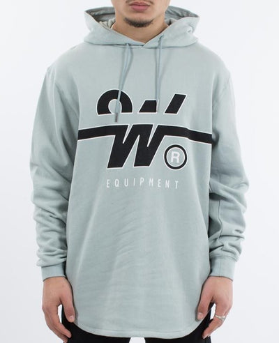 WNDRR Overtime Curved Hem Hooded Sweat