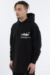 WNDRR Offcut Curved Hem Hood Sweat - Black