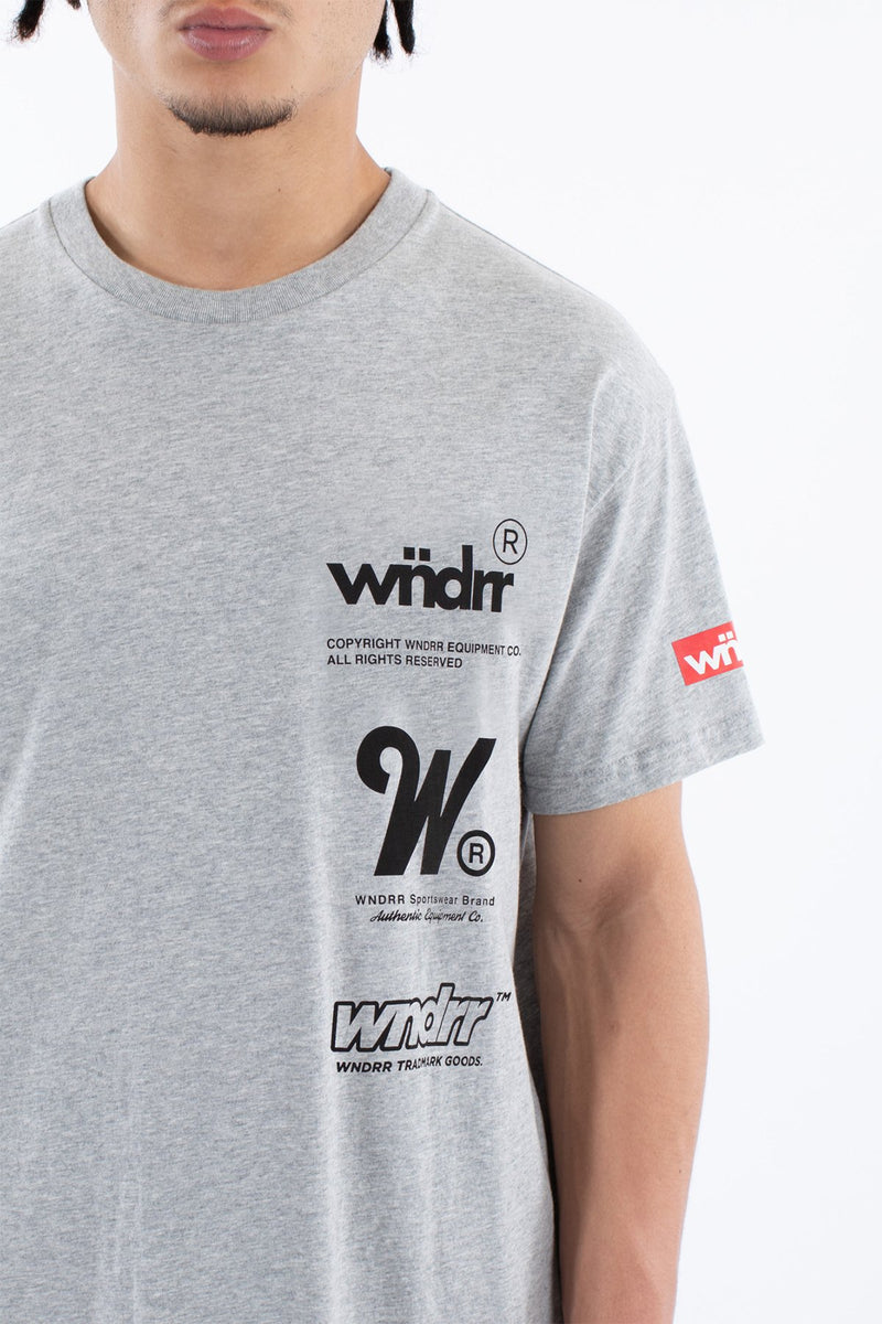 WNDRR Paradox Custom Fit Tee - Grey Marle