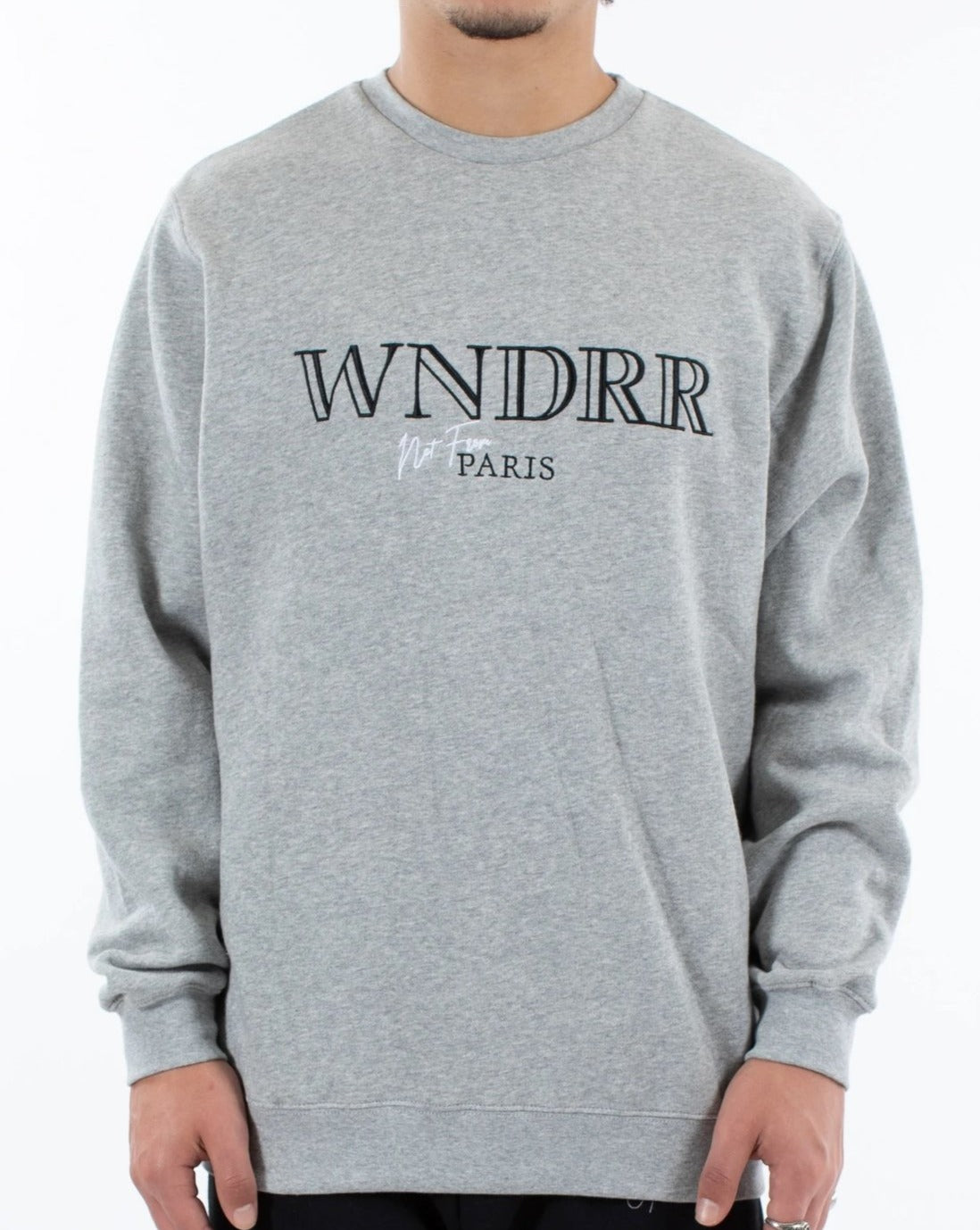 WNDRR Pierre Crewneck Sweat - Grey Marle