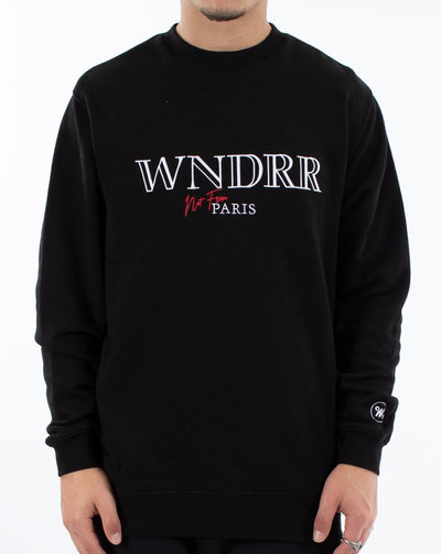 WNDRR Pierre Crewneck Sweat - Black