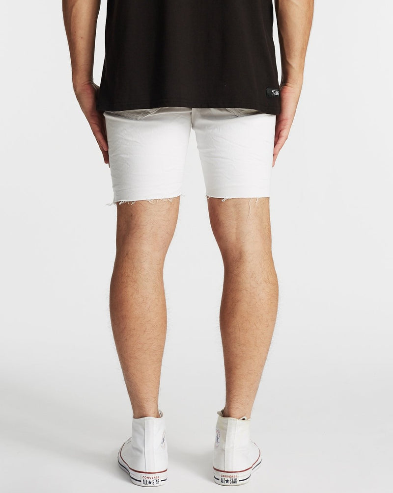 NXP Rawlins Denim Shorts - White