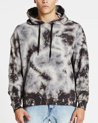 KSCY Reflection Hood Sweat - Tie Dye Black