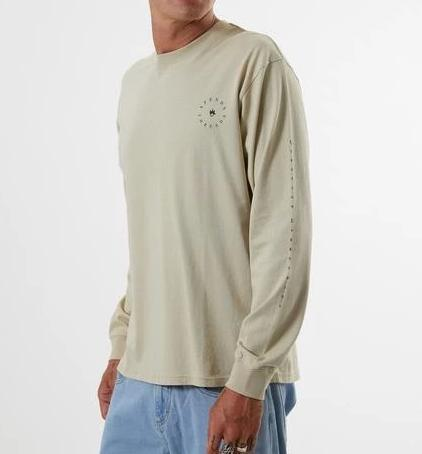 AFENDS Established Longsleeve Tee - Cement - Forestwood Co