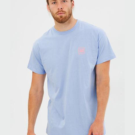 WNDRR Venice Stacked Tee - Cyan - Forestwood Co