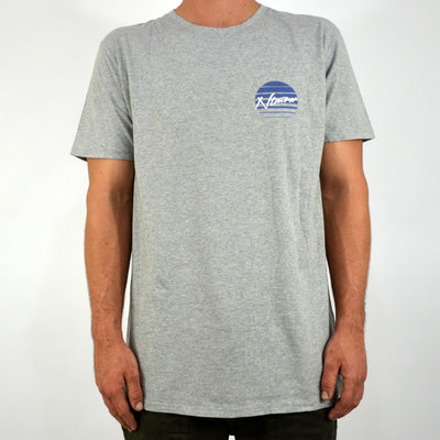 No Tomorrow Rising Sun Tee - Grey Marle - Forestwood Co