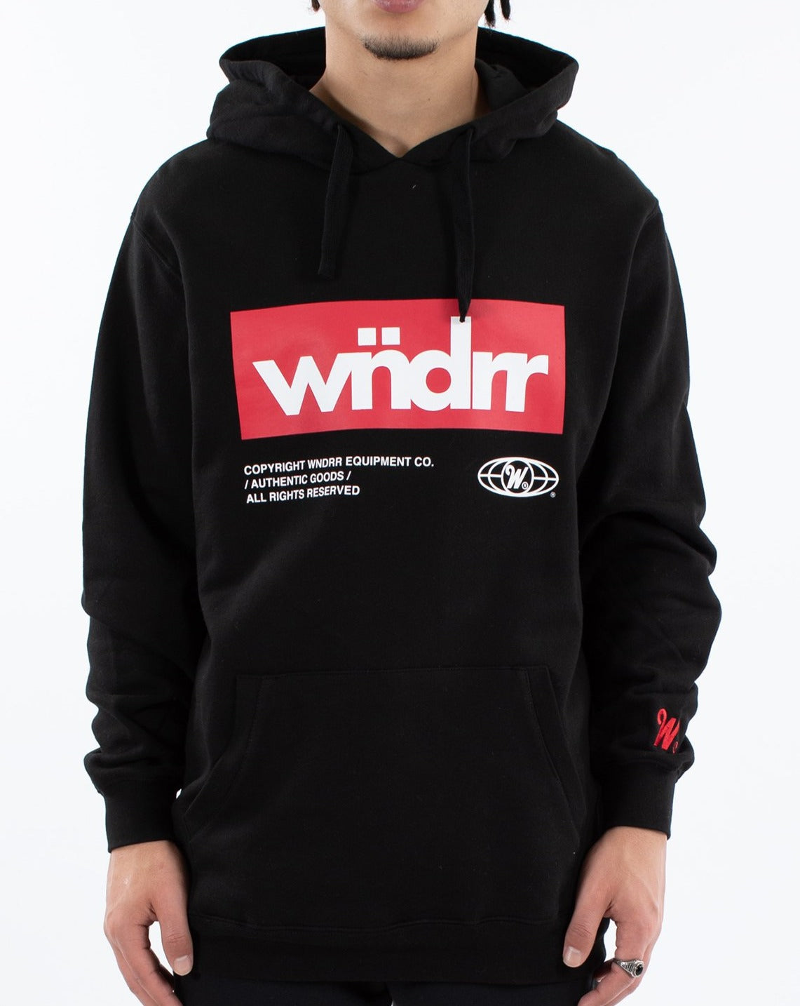 WNDRR Manifest Hood Sweat - Black