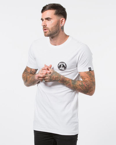 DVNT Cobra Patch Tee - White - Forestwood Co