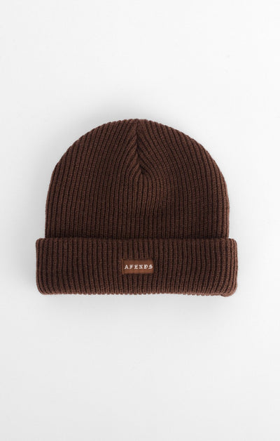 Afends Core Beanie - Brown - Forestwood Co