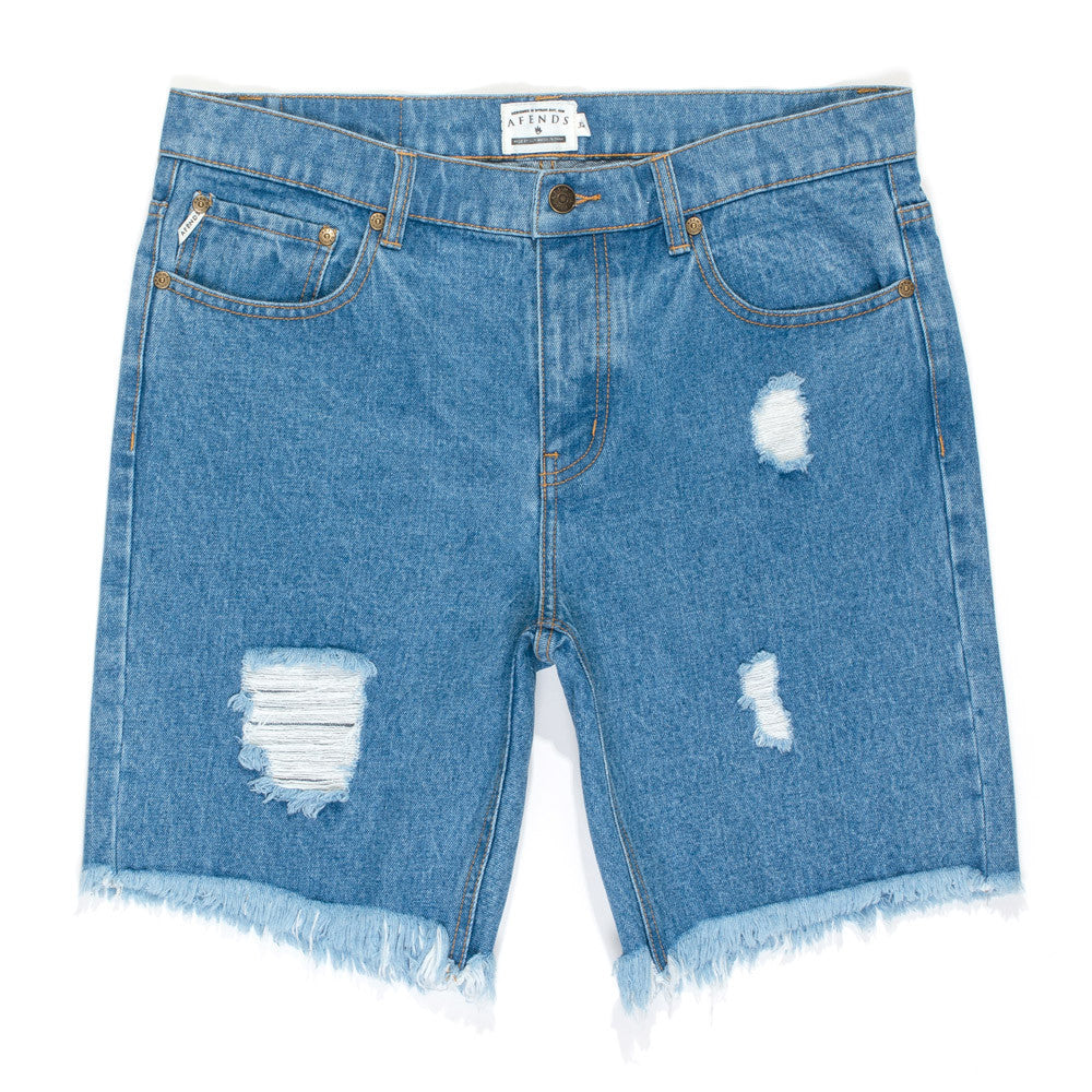 Afends Cut-Off Denim - Blue - Forestwood Co