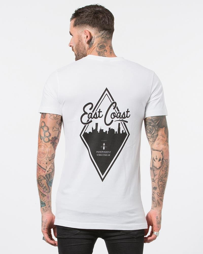 DVNT Diamond Tee - White - Forestwood Co