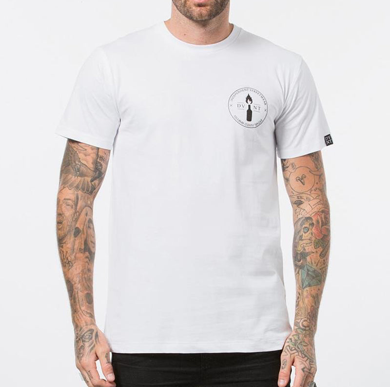 DVNT Emblem Tee - White - Forestwood Co