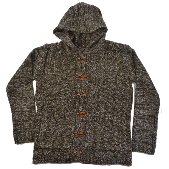 FallenBROKENstreet Marble Knit Hood - Brown - Forestwood Co