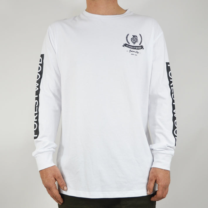 Forestwood Fern Longsleeve - White - Forestwood Co