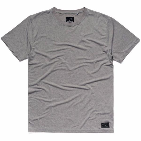 Afends Hemp Standard fit Tee - Grey Marle - Forestwood Co
