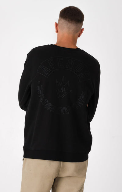 Afends Hollow Crewneck - Faded Black - Forestwood Co