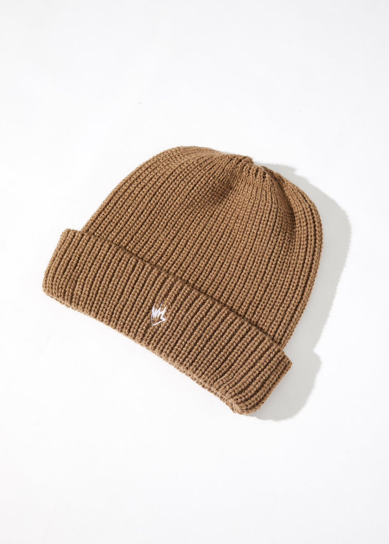 AFENDS Iconic Wharfie Beanie - Sand