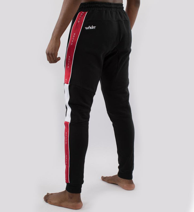 WNDRR Marshall V2 Trackpant - Black/Red - Forestwood Co