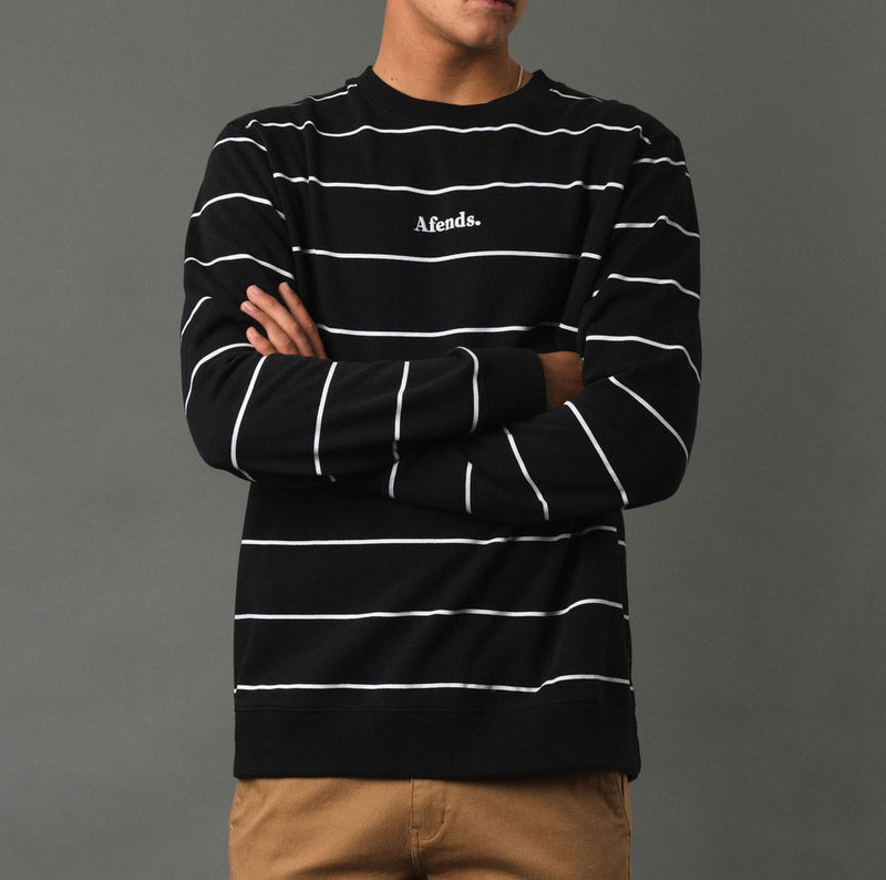 Afends Nylon Stripe Crewneck - Forestwood Co