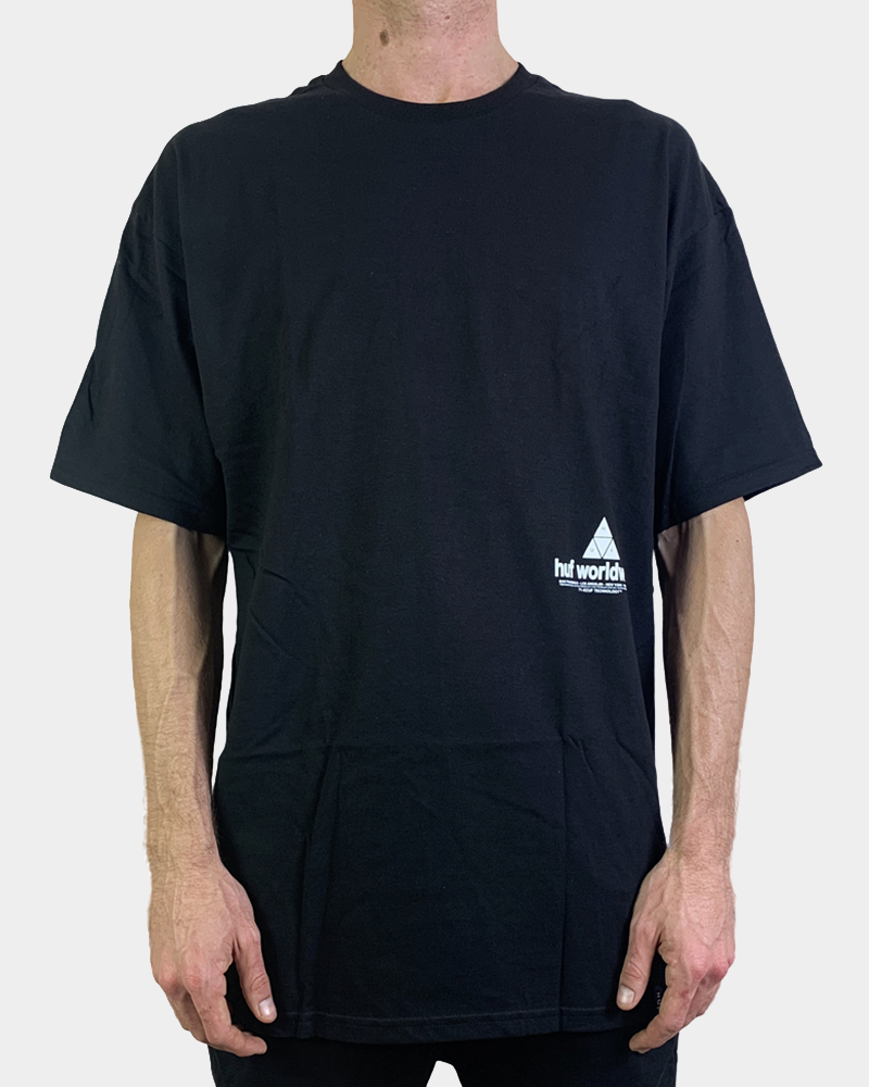 HUF Peak 3.0 Tee - Black