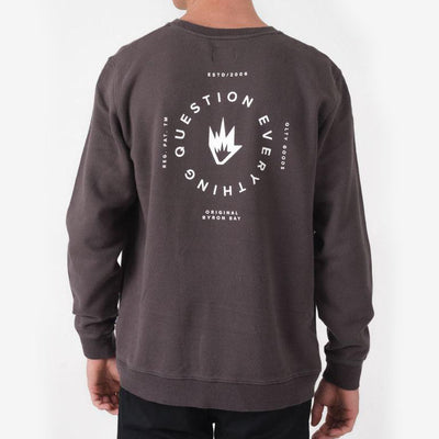 Afends Question Crewneck - Faded Black - Forestwood Co
