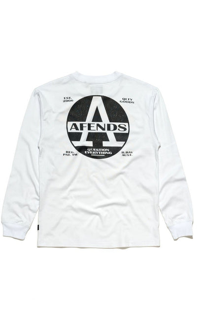 Afends Registered Longsleeve - White - Forestwood Co