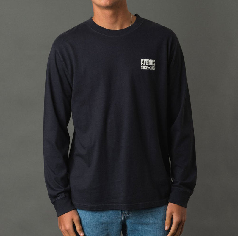 Afends Suffo Longsleeve - Deep Navy - Forestwood Co