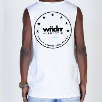 WNDRR Supreme Muscle Top - White - Forestwood Co