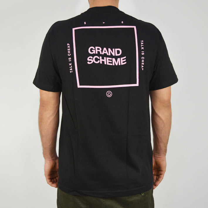 Grand Scheme - Talk is Cheap Tee - Black - Forestwood Co