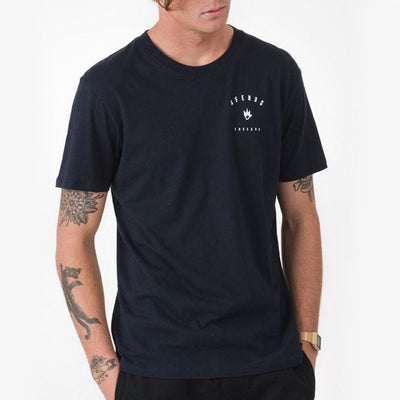 Afends Threads Tee - Navy - Forestwood Co