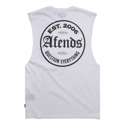Afends Tops Bandcut - White - Forestwood Co