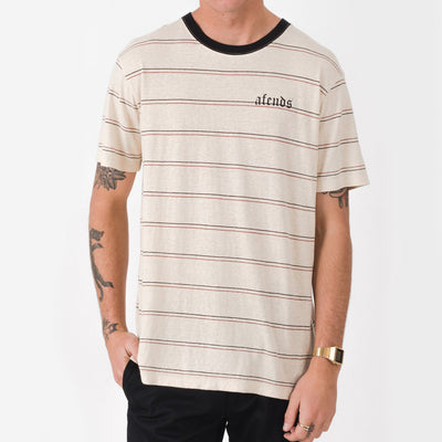 Afends Unrest Hemp Stripe Tee - Forestwood Co