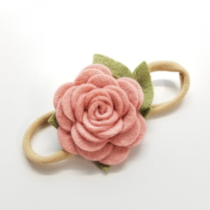 Mini rosette baby headband, sale item