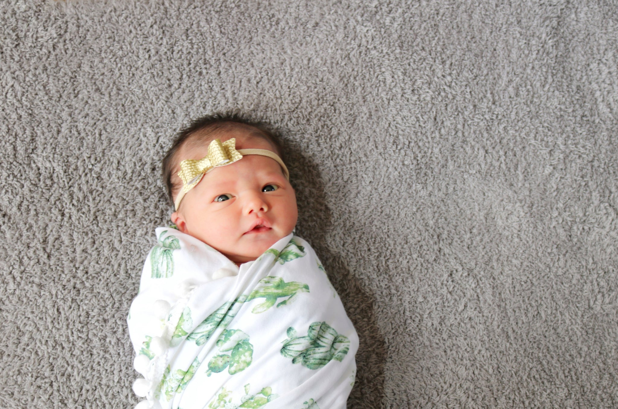 Baby blanket, cactus cotton Knit, newborn swaddle, vanaguelite
