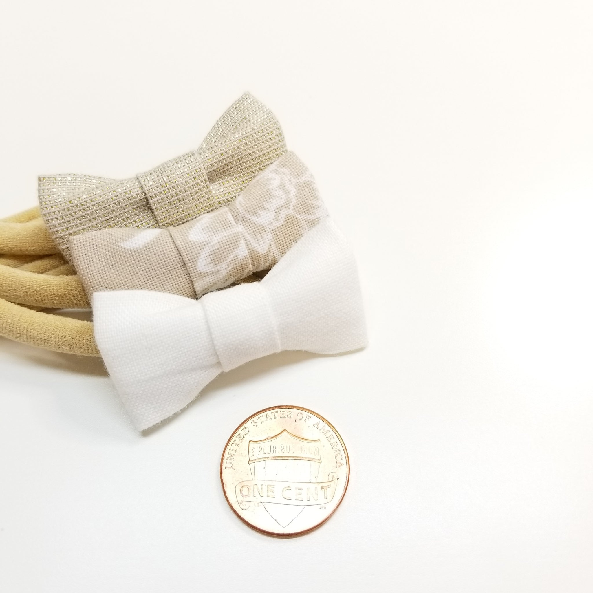 The cutest Neutral Bows set, Itty bitty bows, Newborn and baby girl headbands