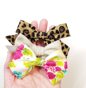 August Bows Set, baby bows nylon headbands or alligator clips, limited monthly edition