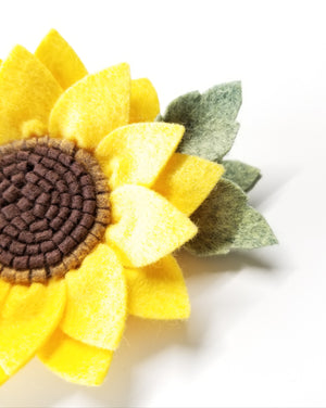 Sunflower Headband, wool felt flowers, Classic Yellow, baby girl hair accessories, baby headbands